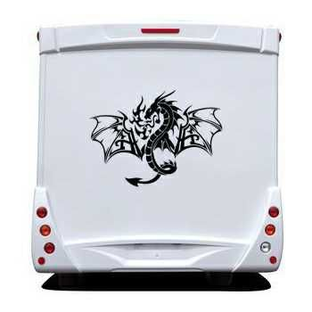 Sticker Camping Car Dragon Flamme 35
