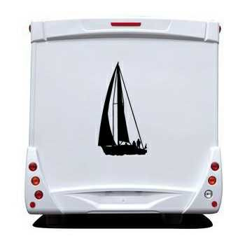 Sailing Boat Camping Car Decal