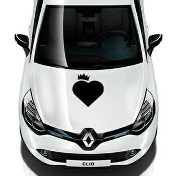 Heart Crown Renault Decal