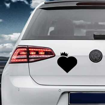Heart Crown Volkswagen MK Golf Decal