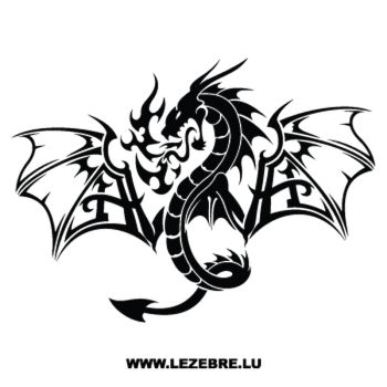 Sticker Dragon Flamme 35