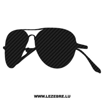 Sticker Carbone Lunettes Soleil Ray Ban