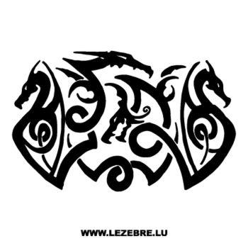 Sticker Tribal Dragon 3