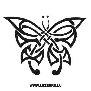 Sticker Karbon Tribal Schmetterling