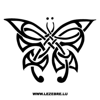 Sticker Tribal Schmetterling