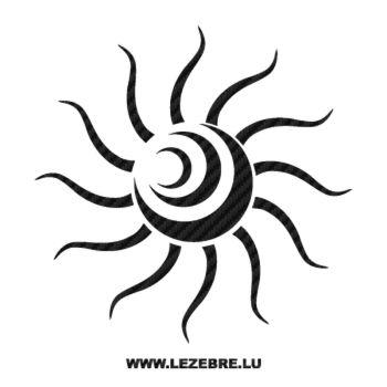 Sticker Karbon Tribal Sonne