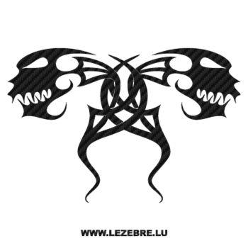 Sticker Karbon Tribal Têtes de Monstres