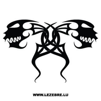 Sticker Tribal Têtes de Monstres