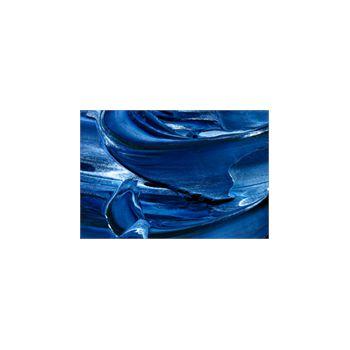 Sticker Déco Peinture à huile texture bleu et blanc