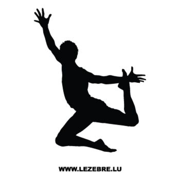 Ballet Dancer Decal 2