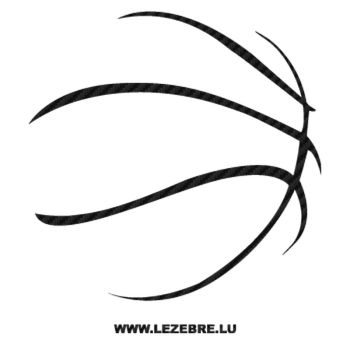 Sticker Carbone Ballon Basketball 2