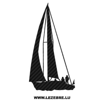 Sailing Boat Carbon Decal