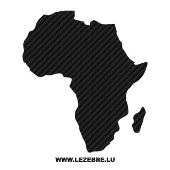 Sticker Carbone Continent Africain
