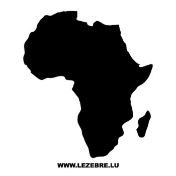 Sticker Continent Africain