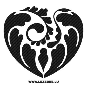 Heart Design Swirles Carbon Decal