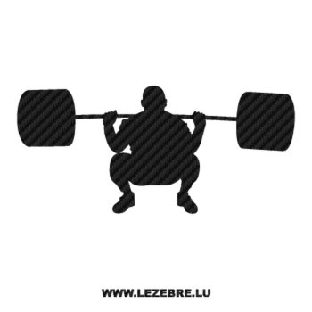 Weight Lifting Carbon Decal