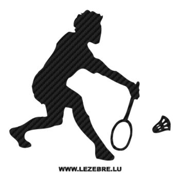 Badminton Player Carbon Decal