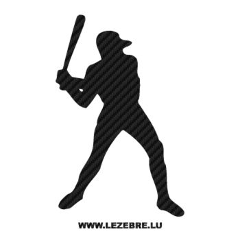 Baseball Player Carbon Decal