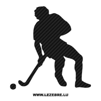 Hockey Player Carbon Decal