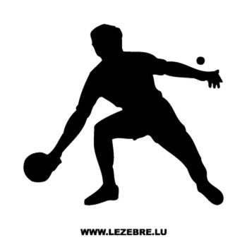 Ping Pong Player Decal
