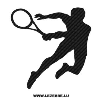 Tennis Player Carbon Decal