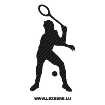 Tennis Player Carbon Decal 2
