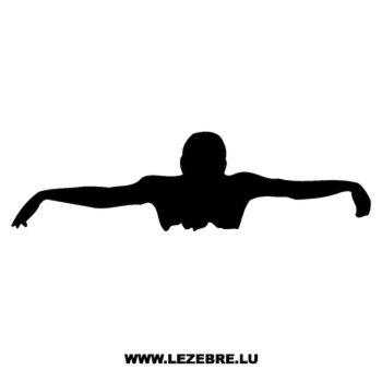 Swimmer swimming Decal 2