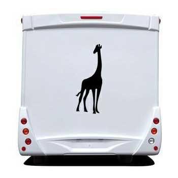 Giraffe Camping Car Decal