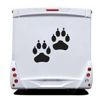 Dog paws Camping Car Decal