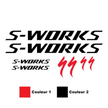 Kit stickers Specialized S-works 2 Couleurs