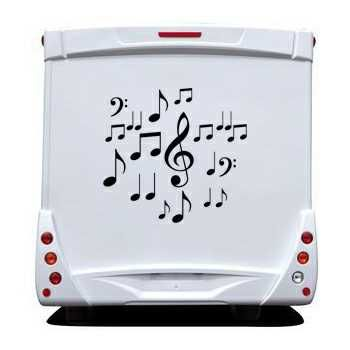 Music Notes Camping Car Decal Set