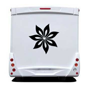 Flower Camping Car Decal 7