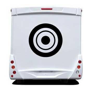 Sticker Camping Car Deco Cercles