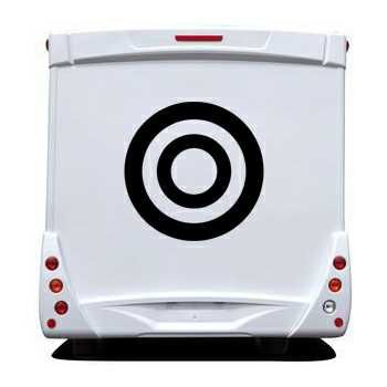 Sticker Camping Car Cercles 2