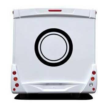Sticker Camping Car Deco Cercle 2