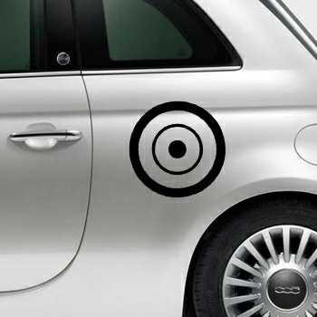 Round Circle Fiat 500 Decal