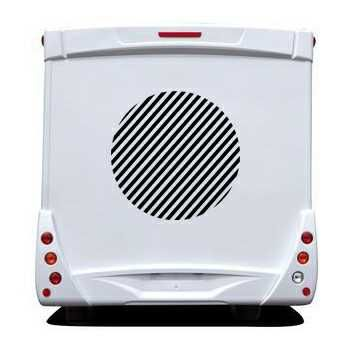 Sticker Camping Car Deco Rond Rayures