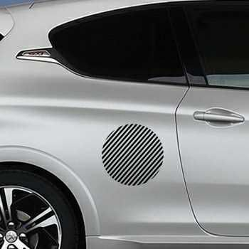 Round Stripes Peugeot Decal