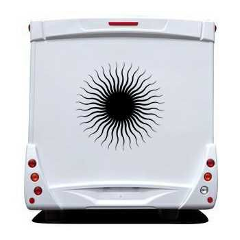 Sun Camping Car Decal