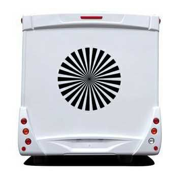 Sun Rays Camping Car Decal 2
