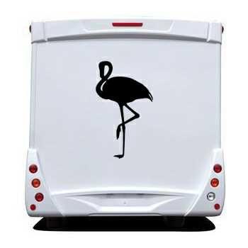 Flamingo Camping Car Decal