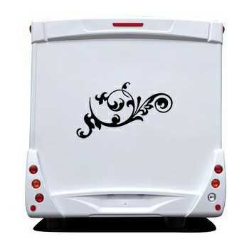 Flower Ornament Camping Car Decal