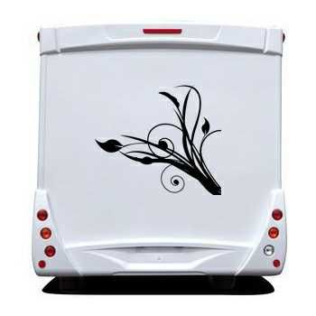 Ornament flowers design Camping Car Decal