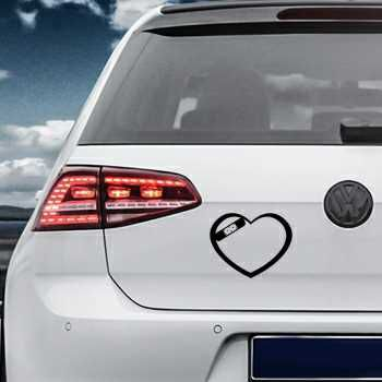 Wounded Heart Volkswagen MK Golf Decal
