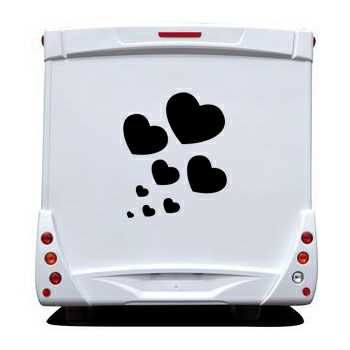 kit stickers Camping Car Coeurs