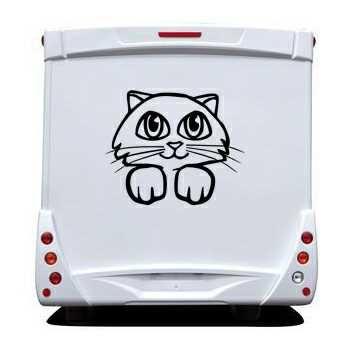 Cat Camping Car Decal