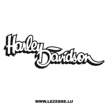 Harley Davidson Logo Carbon Decal