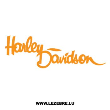 Sticker Harley Davidson Logo écriture au pinceau ★