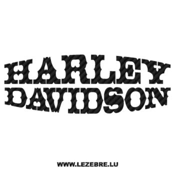 Harley Davidson Deco Carbon Decal