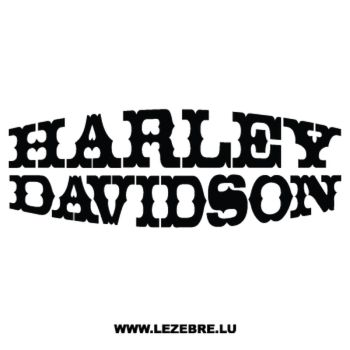 Harley Davidson Deco Decal